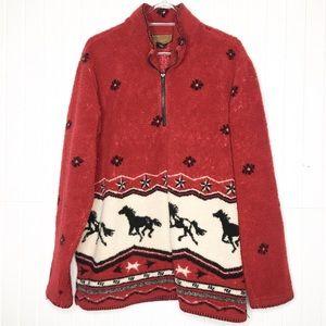 Vintage | Western Horse Teddy Pullover